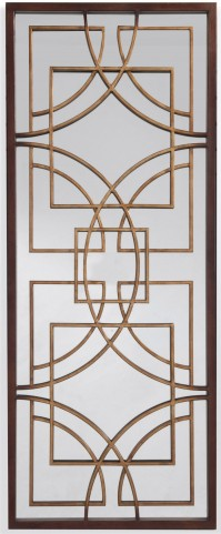 Osburn Rustic Bronze Wall Mirror