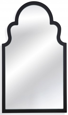 Elberta Black Lacquer Wall Mirror