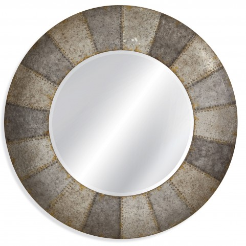 Norris Aged Aluminum Wall Mirror