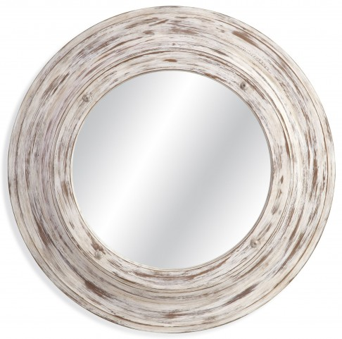 Mallory Antique White Wash Wall Mirror