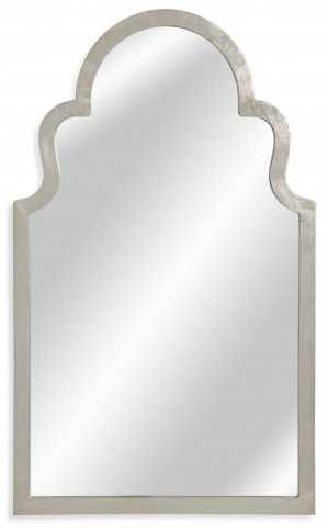 Mina Antiqued Silver Leaf Wall Mirror