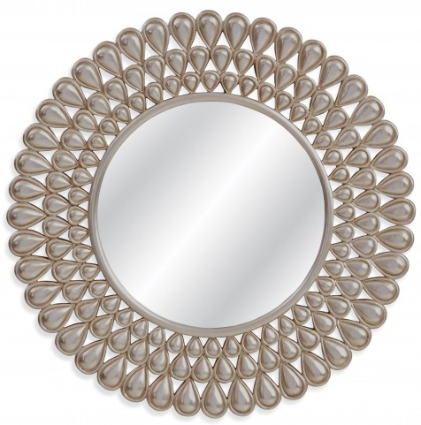 Kaley Antiqued Silver Leaf Wall Mirror