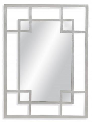 Amos Antiqued Silver Leaf Wall Mirror