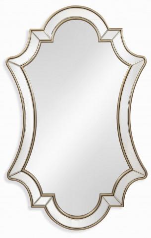 Delia Champagne Leaf Wall Mirror