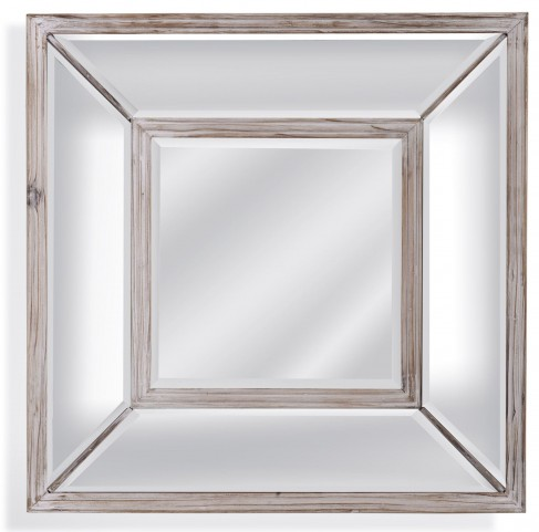 Pompano Scrubbed Pine Square Wall Mirror