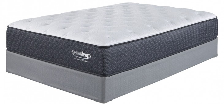 White Twin Plush Mattress With Foundation