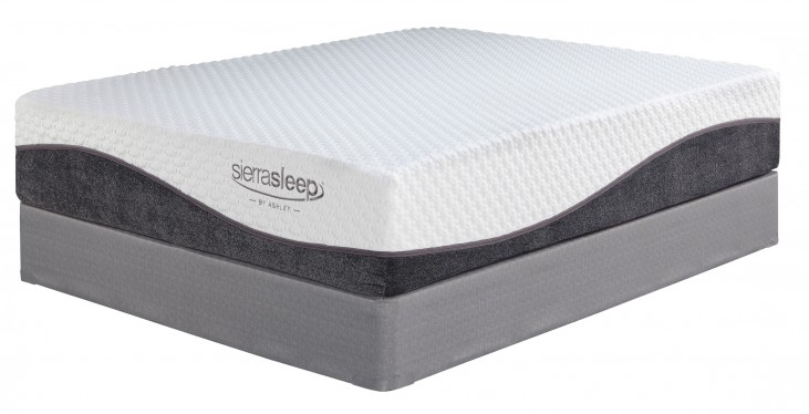 "13"" Import Innerspring White Queen Mattress With Foundation"