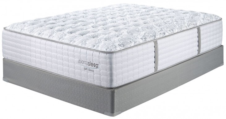 Mt Dana Firm Blue & White Twin Mattress With Foundation