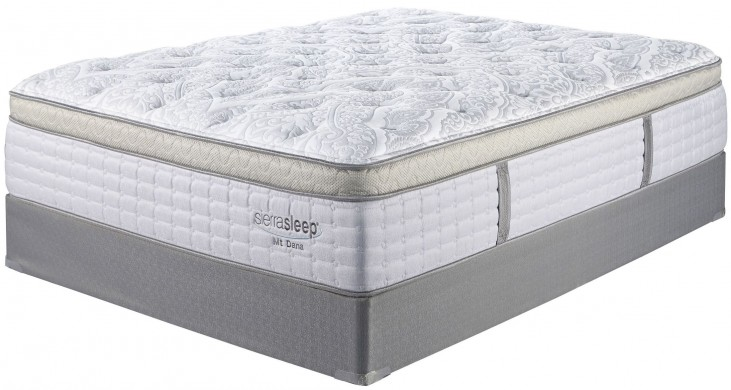 Mt Dana Et Blue & White Cal. King Mattress With Foundation