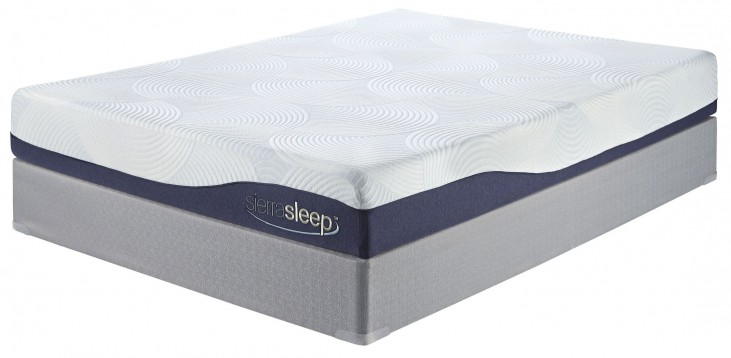 9 Inch Gel Memory Foam White Queen Mattress With Foundation