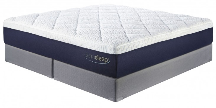13 Inch Gel Memory Foam White Cal. King Mattress With Foundation