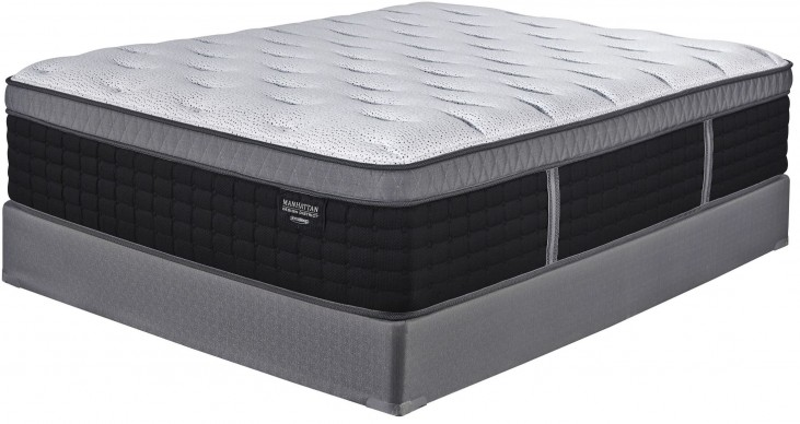 Manhattan Design District Plush ET White/Black King Mattress
