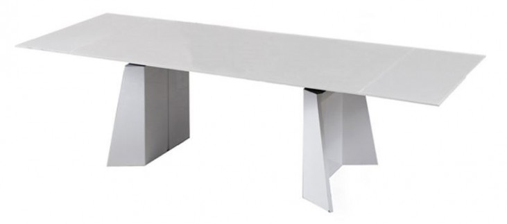 Maderon Gray Extendable Rectangular Dining Table