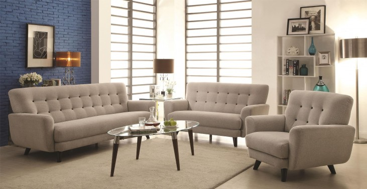 Maguire Light Grey Living Room Set