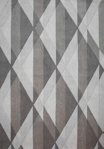 Malabar Grey/Brown Diamond Textured Medium Rug