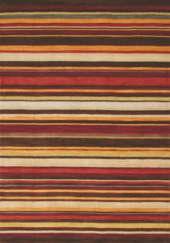 "Mansoori Textured Red Stripes 63"" Rug"