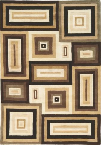 """Mansoori Textured Beige Squares 94"""" Rug"""