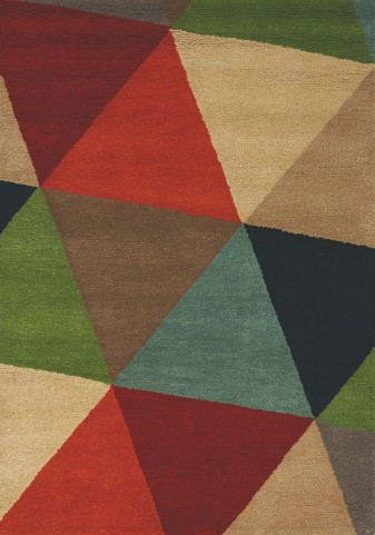 Mara Bold Triangles Rug