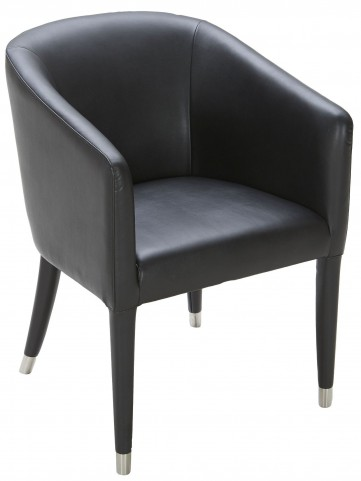 Marcus James Black Leather Armchair