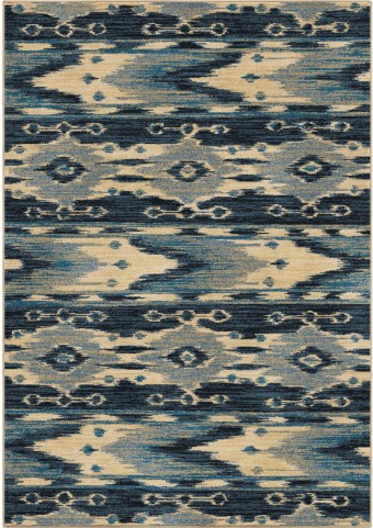Orian Rugs Unique Coloring Ikat Moapa Blue Area Large Rug