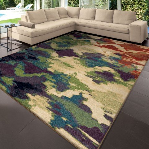 Watercolor Trellis Multi Large Rug