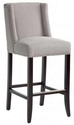 Marlin Vintage Linen Grey Fabric Barstool
