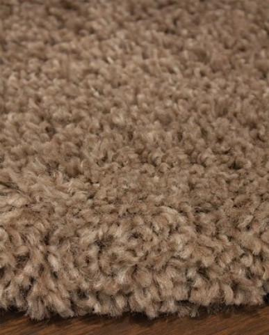 Maroq Solid Tan Soft Touch Large Rug