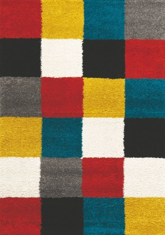 Maroq Neon Checkers Soft Touch Rug