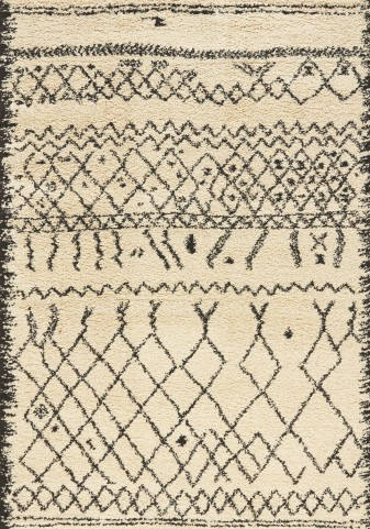 Maroq Brown Cream Tribal Soft Touch Rug