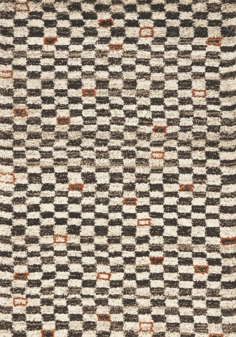 "Maroq Tribal Checkers Soft Touch 94"" Rug"