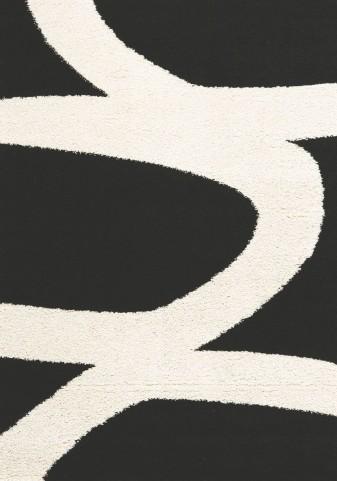 """Maroq Black White Uturn Soft Touch 94"""" Rug"""