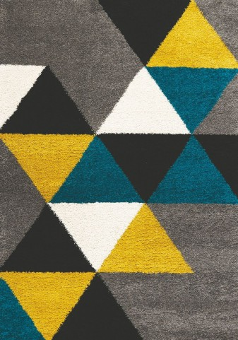 Maroq Colorful Triangles Soft Touch Rug