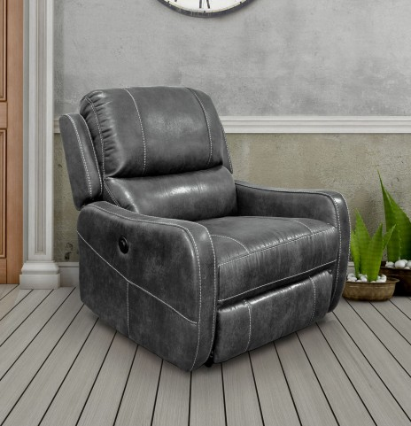 August Platinum Lay Flat Power Recliner