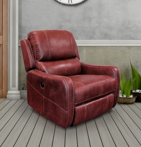 August Ruby Lay Flat Power Recliner
