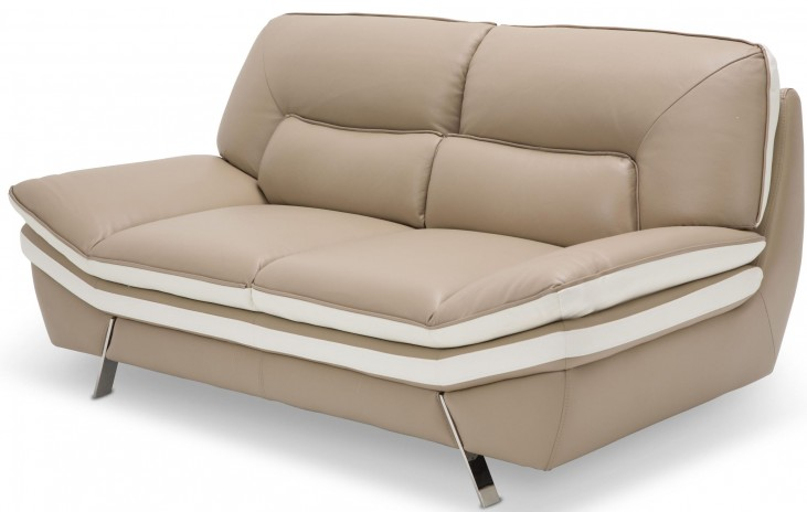 Mia Bella Carlin Brown Loveseat