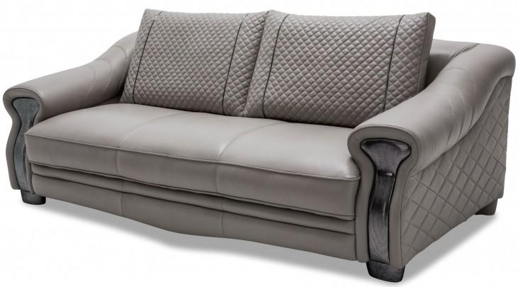 Mia Bella Gray Leather Standard Sofa