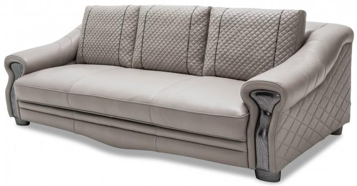 Mia Bella Gray Leather Mansion Sofa