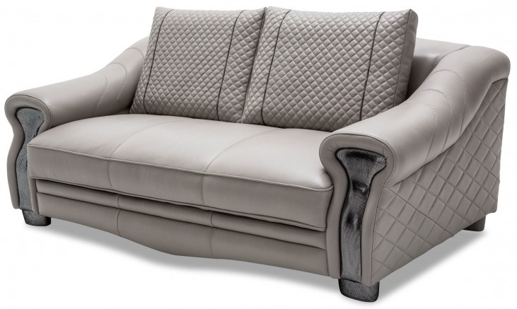 Mia Bella Leather Loveseat