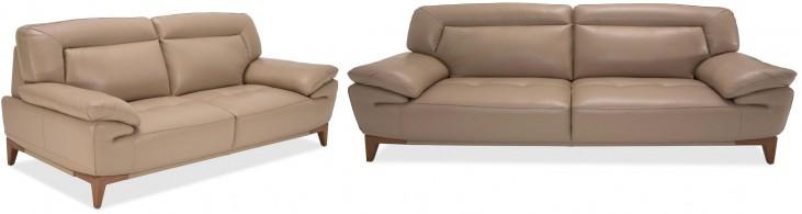 Mia Bella Taupe Living Room Set