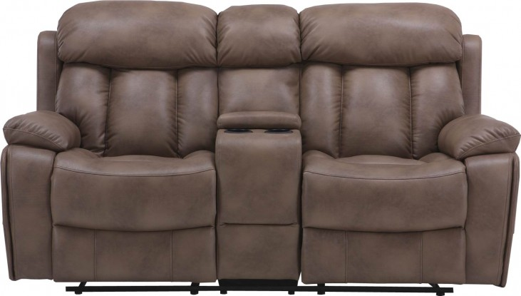 Baron Balsam Dual Power Reclining Console Loveseat