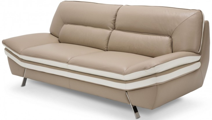 Mia Bella Carlin Brown Sofa