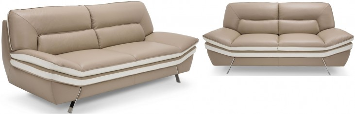 Mia Bella Carlin Brown Mocha Living Room Set