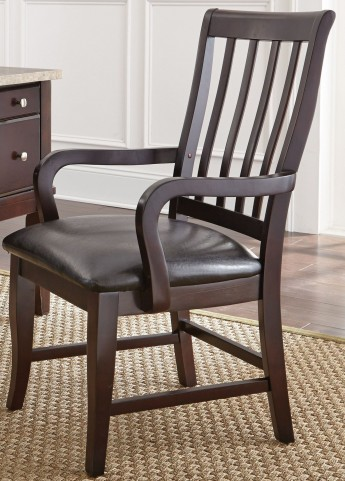 Monarch Black Upholstered Arm Chair
