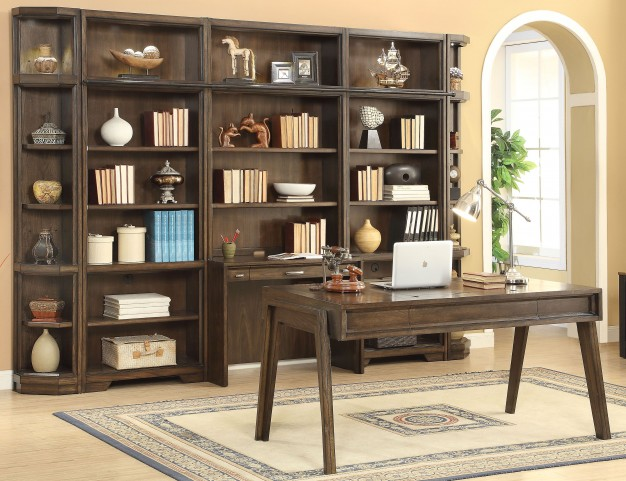"Meridien Burnished Dark Ash 32"" Bookcase Wall"