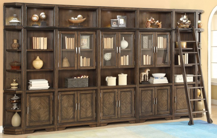 Meridien Burnished Dark Ash Large Wall Unit