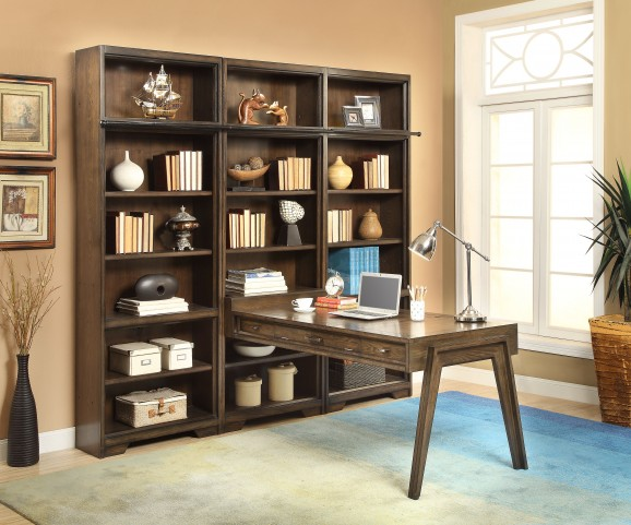 Meridien Burnished Dark Ash Peninsula Wall Unit