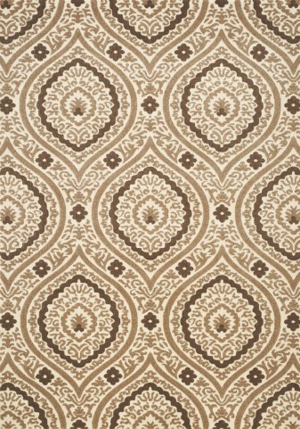 Mercury Brown/Gold Ogee Medium Rug