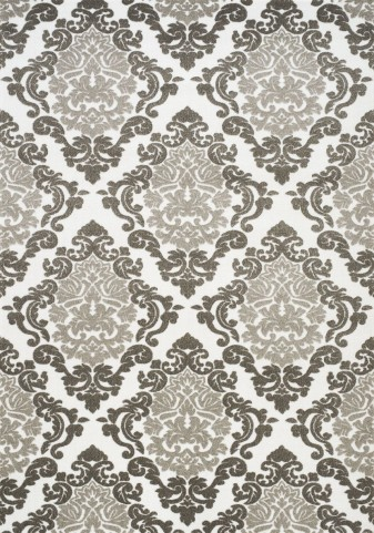 Mercury Grey/White Ornamental Diamond Large Rug