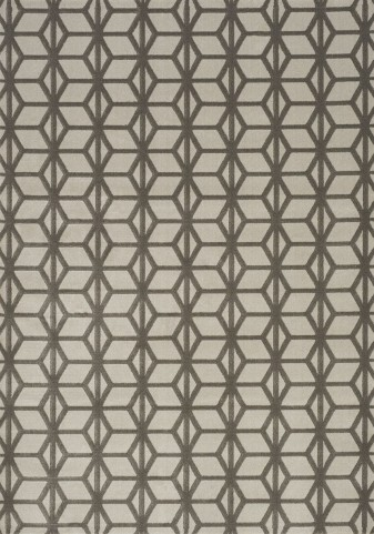 Mercury Taupe Parallelogram Column Medium Rug