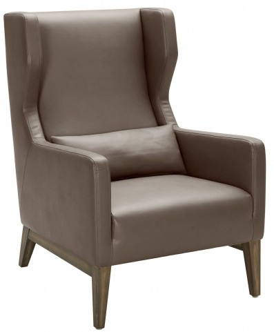 Messina Dove Grey Leather Armchair